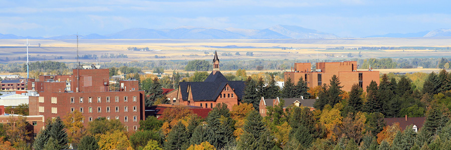 Photograph of the MSU campus in Bozeman